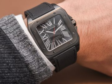 Cartier Santos 100 Carbon Watch Hands-On Hands-On
